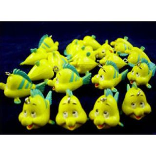 20 x Disney The Little Mermaid Flounder Fish Jewelry Making Figures