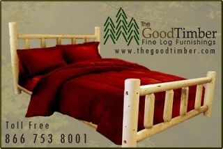 Pine Log Bed Only $219   Ships FREE & FAST   Rustic Cabin Beds