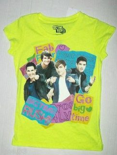 BIG TIME RUSH T Shirt sz 7 8 M Carlos FAB 4 James Logan Kendall BTR