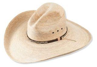 BIG 5 BRIM   Western COWBOY HAT   Mexican PALM LEAF Straw   Wide Gus
