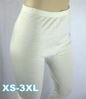 Inter Lock Women Girl Long Johns Pure Merino Wool Thermal Underwear XS