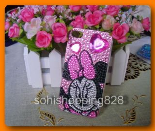 Newly listed Pink Diamond Minnie mouse Bling Crystal Case Cover For