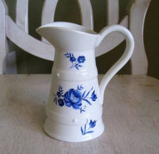lord nelson pottery england blue floral small pitcher time left