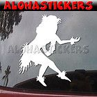 HULA GIRL DANCER Wahine Car Truck Hawaii Laptop Vinyl Decal Window