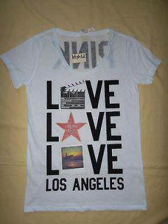 NWT Victorias Secret Pink Los Angeles Film T Shirt Top L large