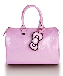 AUTHENTIC  Loungefly ~ HELLO KITTY LIGHT PINK EMBOSSED CITY BAG