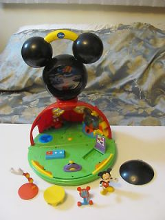 Disney Mickey Mouse Talking Clubhouse Playset Toy Set w Accessories