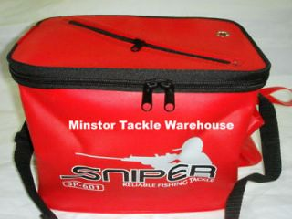sniper sp601 eva live bait fishing bucket red from malaysia