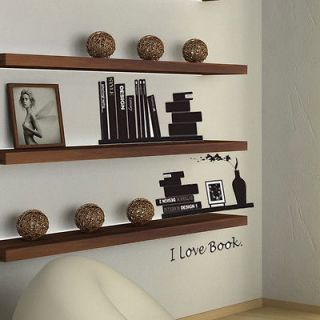 Love Reading Book Wall Sticker Decor Decals Vinyl Art Removable
