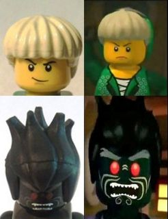YOUR Lego NINJAGO Minifigures LORD GARMADON & LLOYD ZX Green Ninja