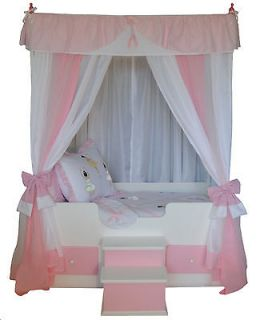 TWIN BALLERINA Princess Canopy BeddingGirls BedCanopy Bed, girls