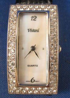 nice ladies vivani black rhinestone fashion quartz watch must l