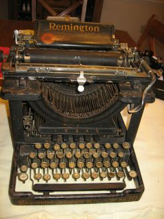 antique remington model 10 visable typewriter  within