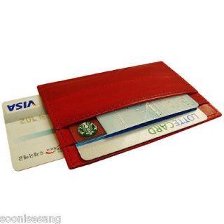 Genuine Eel Skin ID Holder Transportation Card Holder Credit Card
