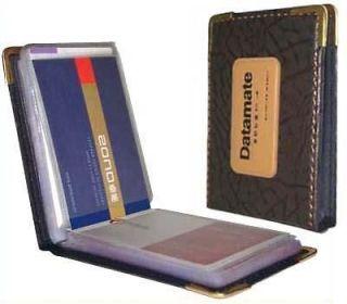 Pocket Leatherette Business Credit Card Holder Wallet 60 B35
