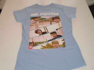 one direction light blue t shirt large new womens