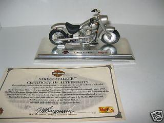 Maisto Harley Davidson Motorcycle Street Stalker 118 Scale 1999 Die