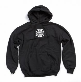 WEST COAST CHOPPERS HOODIE MALTESE CROSS MENS HOODIE ALL SIZES, BLACK