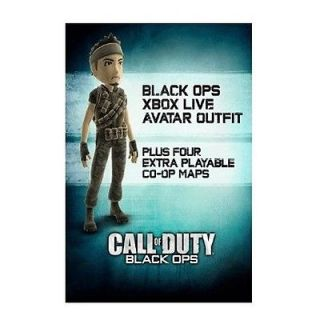 Duty Black Ops Xbox Live Avatar and COD World at War Zombie Maps DLC