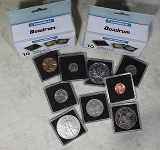 Coin Holders / Capsules US MORGAN & PEACE DOLLARS 38mm Quadrum