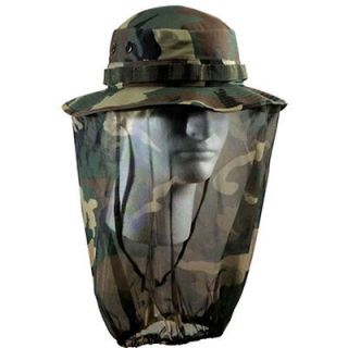 Boonie Hat Cap With Camouflage Mosquito Netting