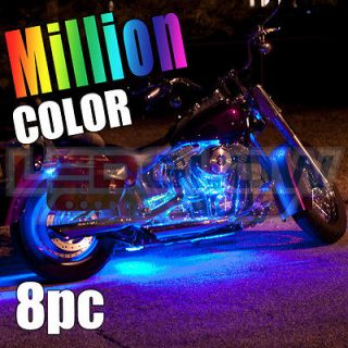8pc Advanced Million Color LED SMD Motorcycle Neon Light Kit