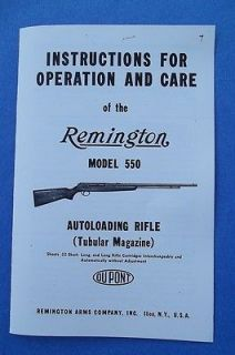 Remington Model 550 AUTOLOADING 22 Caliber Rifle Instructions