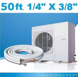 50 ft. Mini Split A/C Connection Line Set 1/4 X 3/8 9000 12000 Btu