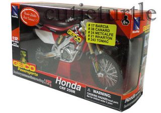 New Ray Geico Motorcross Honda CRF 250R Dirt Bike 1:12 Red