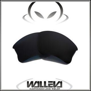 Black Replacement Lenses For Oakley Flak Jacket XLJ Sunglasses