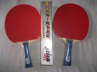 2x ORIGINAL DHS 1002 TABLE TENNIS Paddles BATS + 6x 1Star BALLS, AU