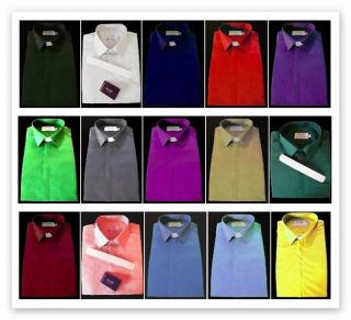 Clergy Shirt, Polycotton, Collar Attached Style, Free Collar Tab, 15