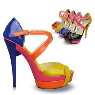 Fashion Mary Jane Women Shoe Platforms Stilettos High Heels Sandals