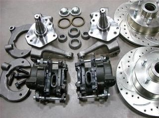 MUSTANG II FRONT 11 DRILLED SLOTTED CHEVY ROTORS DISC BRAKE KIT 2