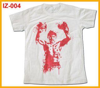 indeez  IZ 004 MANNY PACQUIAO PAC MAN BOXING t shirt,White,L