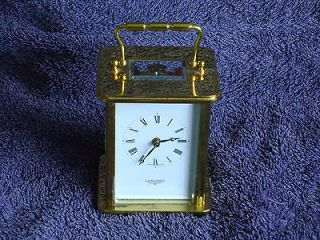 LONGINES BRASS 8 DAY CARRIAGE CLOCK TIMEPIECE MATTHEW NORMAN MOVT 1754