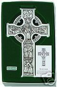fine pewter true celtic irish cross antique silver time