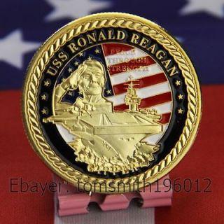 Navy / USS Ronald Reagan CVN 76 / Military Challenge Coin 717