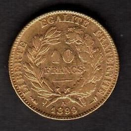 france 1899a 10 francs gold see picures from canada ime