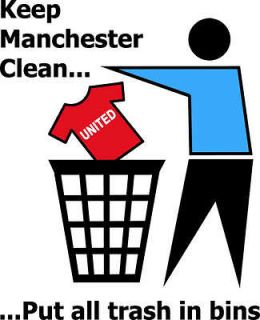 KEEP MANCHESTER CLEAN funny football city t shirt