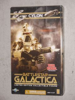 Battlestar Galactica 12 Gold Cylon Commander Doll Action Figure