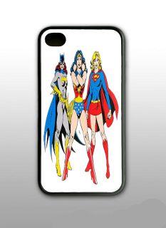 BATGIRL WONDER WOMAN SUPER GIRL I PHONE CASE IPHONE 4 ANS 4S