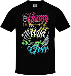 YOUNG WILD AND FREE T SHIRT LMFAO Party Rock Crew Gym Shirt LMFAO