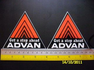 2jdm advan sticker decals car tuning detailing from thailand time