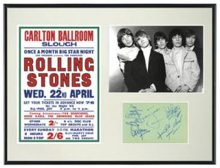 rolling stones autograph in Entertainment Memorabilia