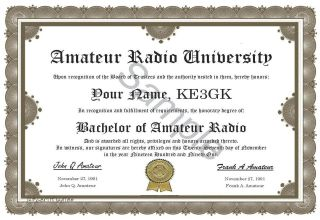 amateur radio degree ham radio humor novelty