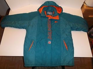 VINTAGE STARTER PRO PLAYER MIAMI DOLPHINS WINTER JACKET PARKA MENS XL