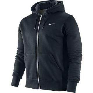 Nike 404512 010 Mens Classic Fleece Hoodie Full Zip Black White S M L