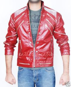 Michael Jackson Beat It Leather JACKET & Free Billie Jean Glove