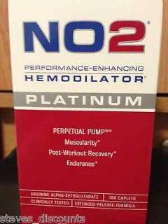12 MRI NO2 Platinum 180 Caps,Enhancing Hemodilator. Arginine A AKG